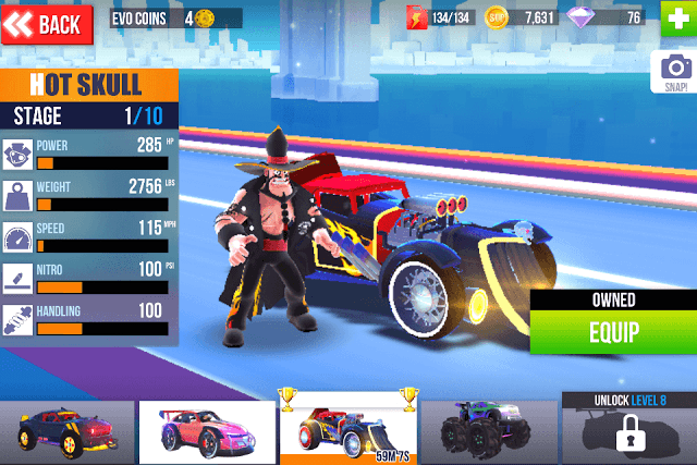 Choose a recommended car in SUP Multiplayer racing
