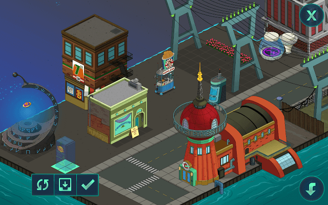 Managing Space in Futurama Worlds of Tomorrow