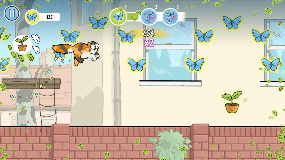 Simon's Cat Dash - capture butterflies