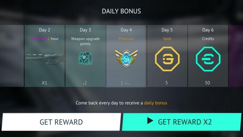Daily Bonus Page