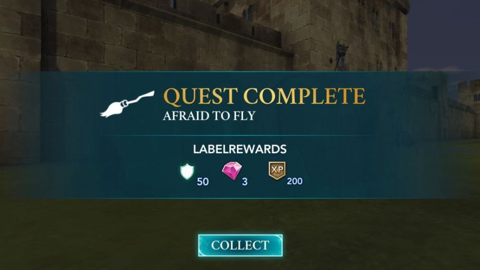 The Afraid to Fly quest awards 20 points along with other rewards