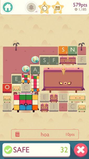 Choose letter tiles wisely
