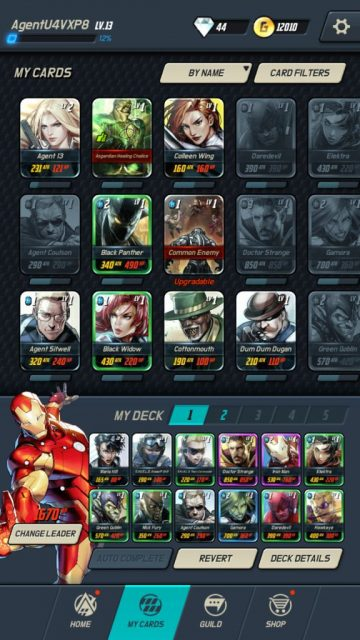 Marvel Battle Lines Card Collection