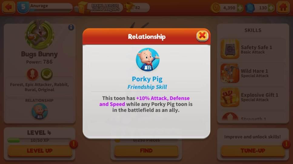 Relationship Bonuses