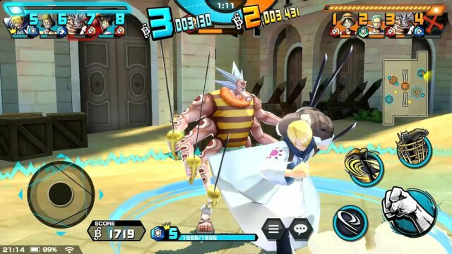 One Piece Bounty Rush battle