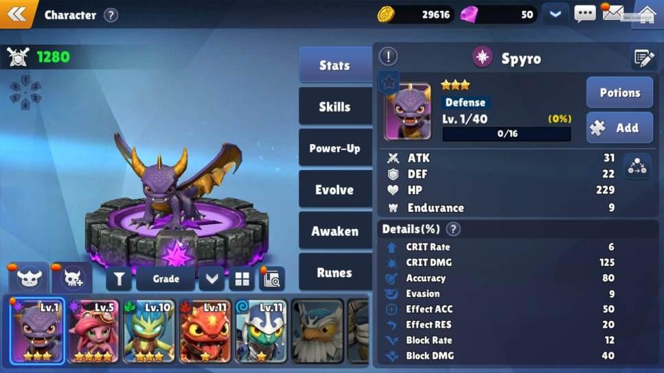 Skylanders Ring of Heroes - List of Characters