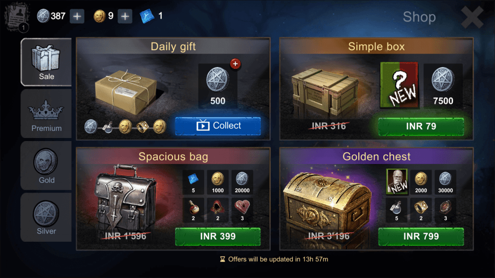 Collect Items from Daily Gifts