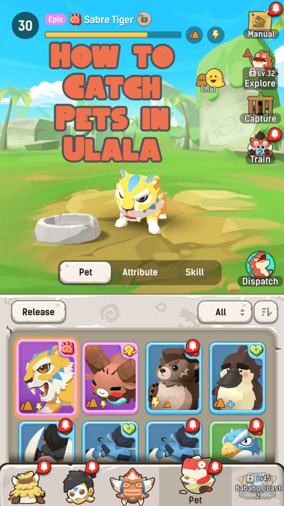 Ulala: Idle Adventure - How to Capture Pets