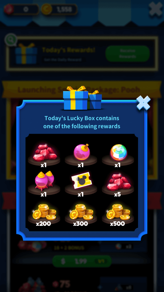 Get Coins and Lucky Tickets from the Daily Lucky Box
