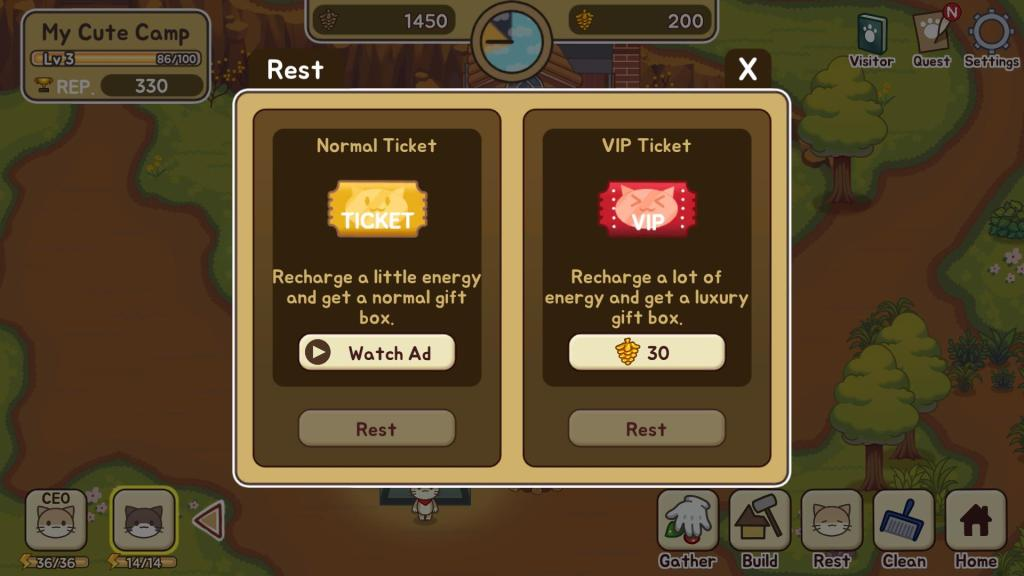 Get Vip tickets to recharge energy and earn a gift box