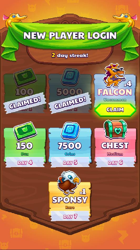 New Player Login Rewards