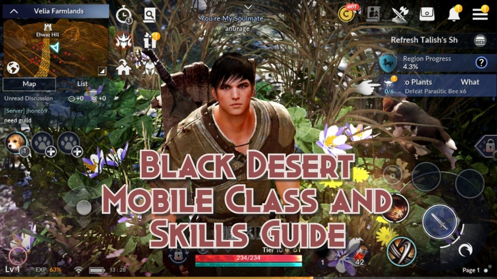 Black Desert Mobile Classes and Skills