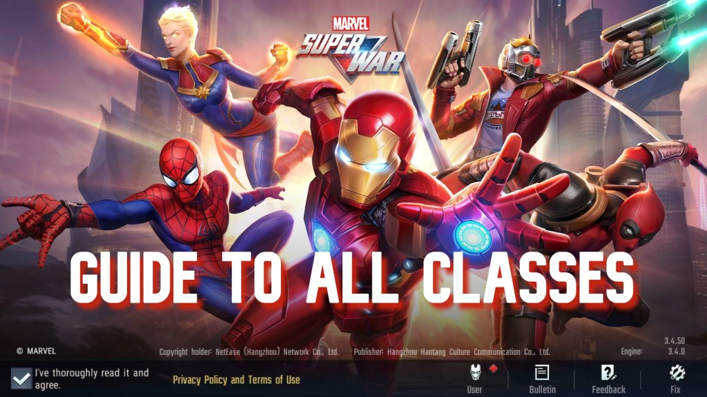 Marvel Super War Classes