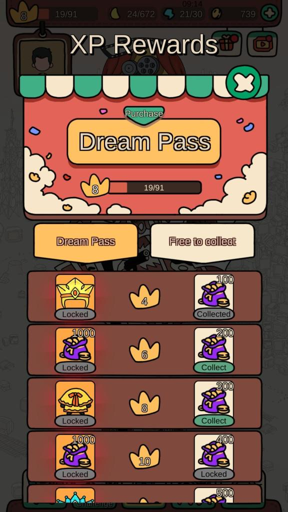 Get coins from the Dream Pass