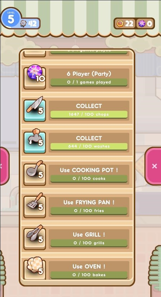 Complete tasks to get components