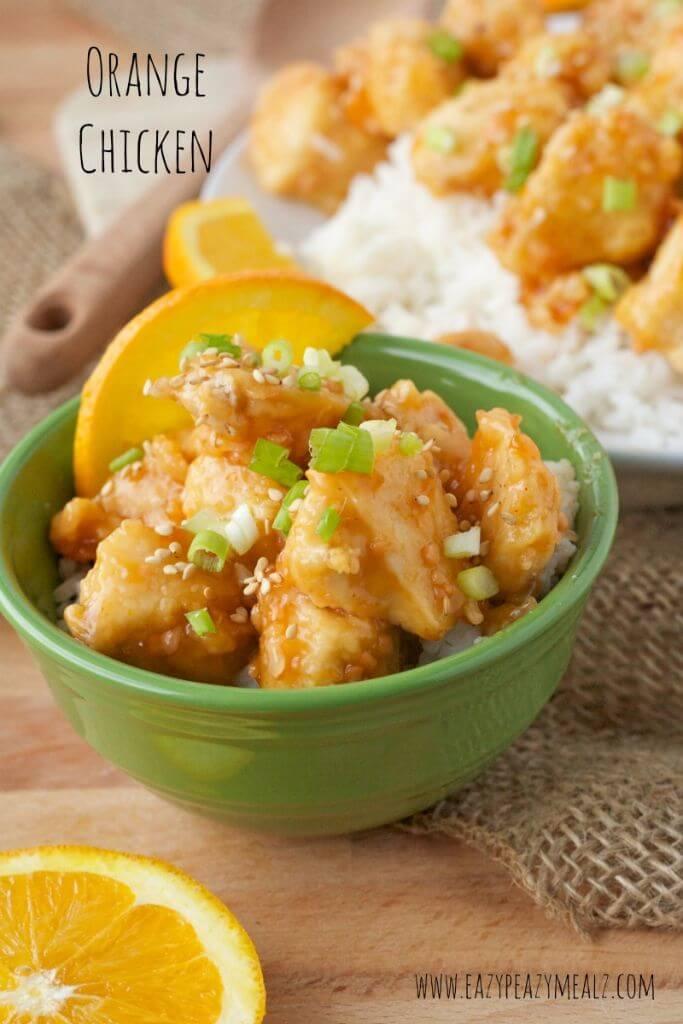 Orange chicken recipe from Easy Peasy Meals