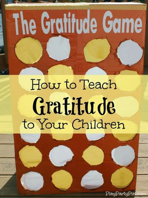 How to Teach Gratitude to Your Children: The #Gratitude #Game from playpartyplan.com