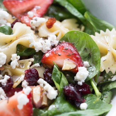 Strawberry Spinach Salad with The Best Salad Dressing