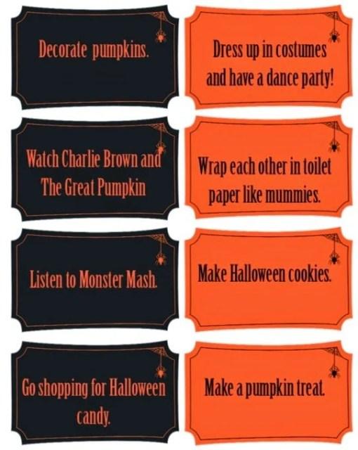 All sorts of fun Halloween activities for kids including a great Halloween countdown calendar idea