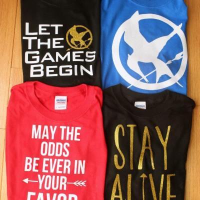 DIY Hunger Games Shirts & Free Cut Files