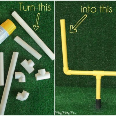 DIY Field Goal Post from PVC Pipe