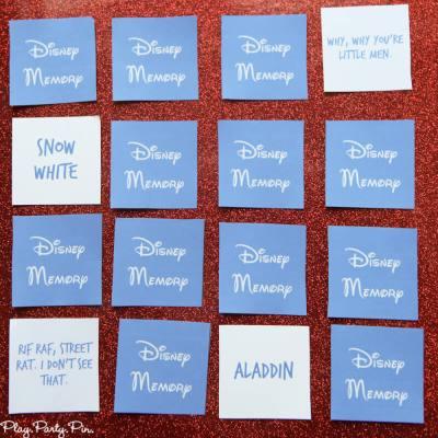 Free Printable Disney Matching Game
