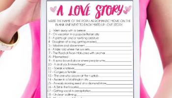 16 hilarious bridal shower games everyone will absolutely love printable bridal shower game a love story solutioingenieria Gallery