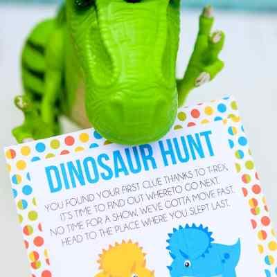 Printable Dino Hunt Game