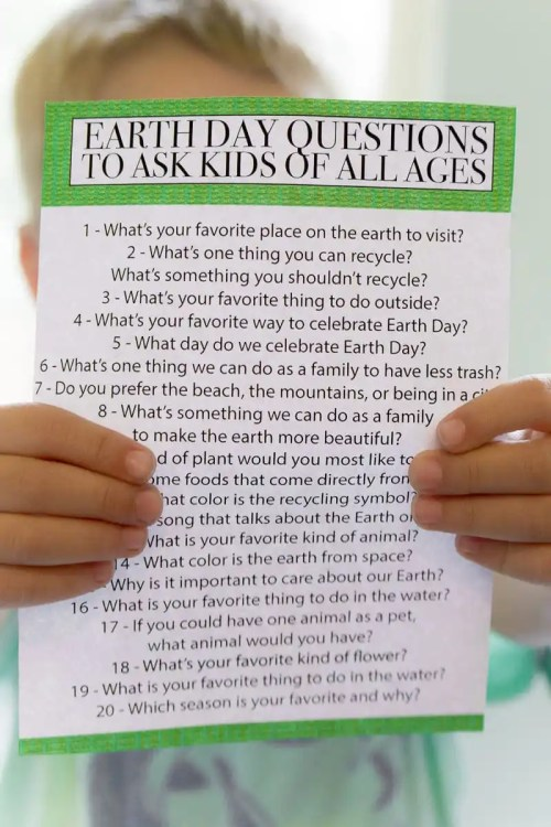 small resolution of Earth Day Questions for Students {Free Printable} - Play Party Plan