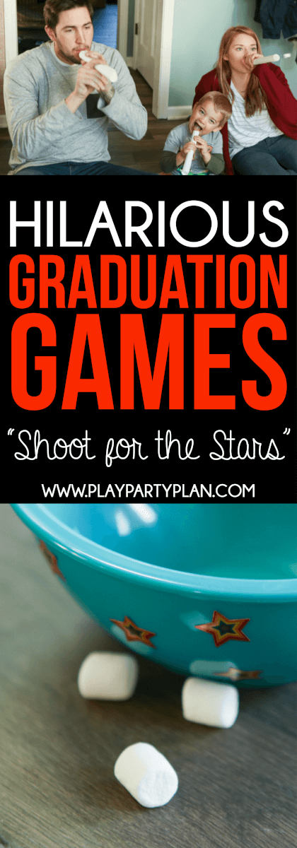 Shoot for the stars is one of the best graduation party games
