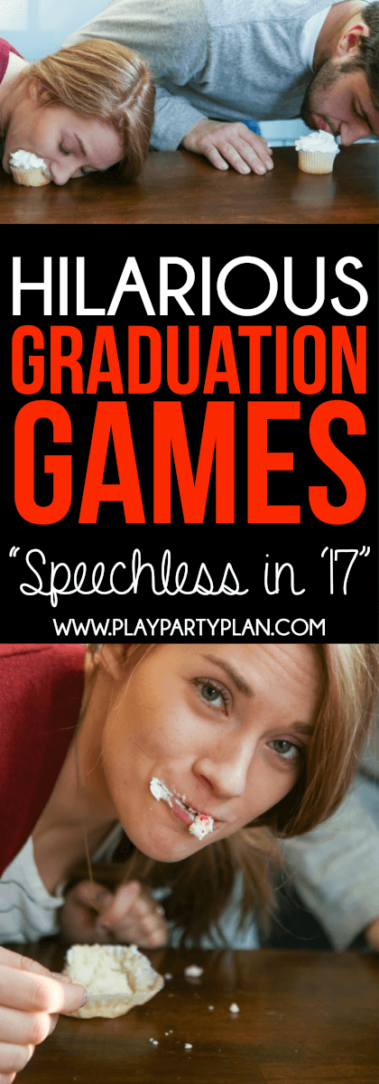 Looking for things to do at a graduation party? These graduation party games are some of the best ideas ever! They're perfect for college, high school, or even an 8th grade graduation party! We are definitely trying out these fun minute to win it games at our 2017 graduation party!