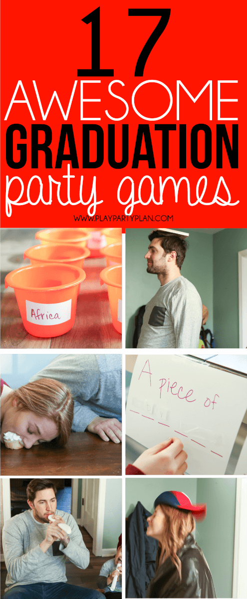 Looking for things to do at a graduation party? These graduation party games are some of the best ideas ever! They're perfect for college, high school, or even an 8th grade graduation party! We are definitely trying out these fun minute to win it games at our 2018 graduation party!