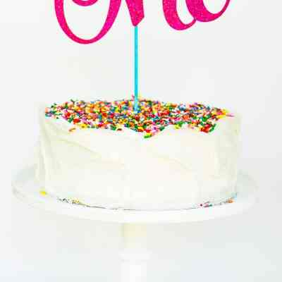 DIY Custom First Birthday Cake Toppers