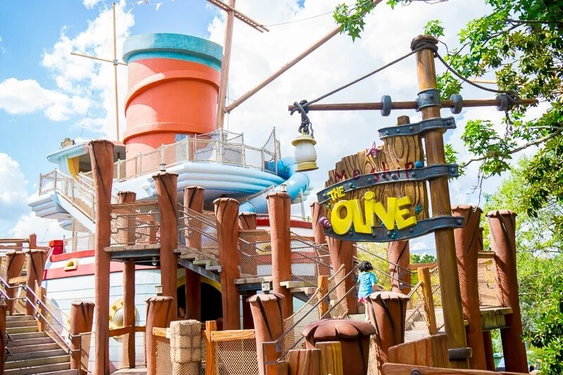 Me Ship, The Olive playground at Universal Islands of Adventure