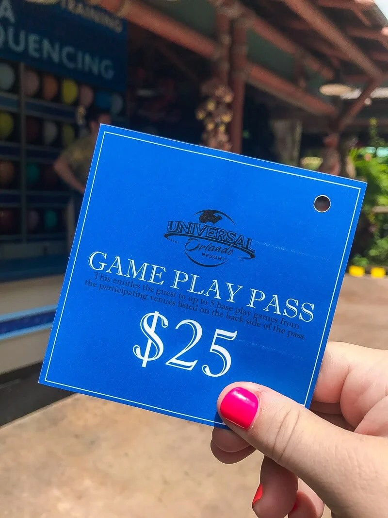 Punch card game play pass saves you money on games