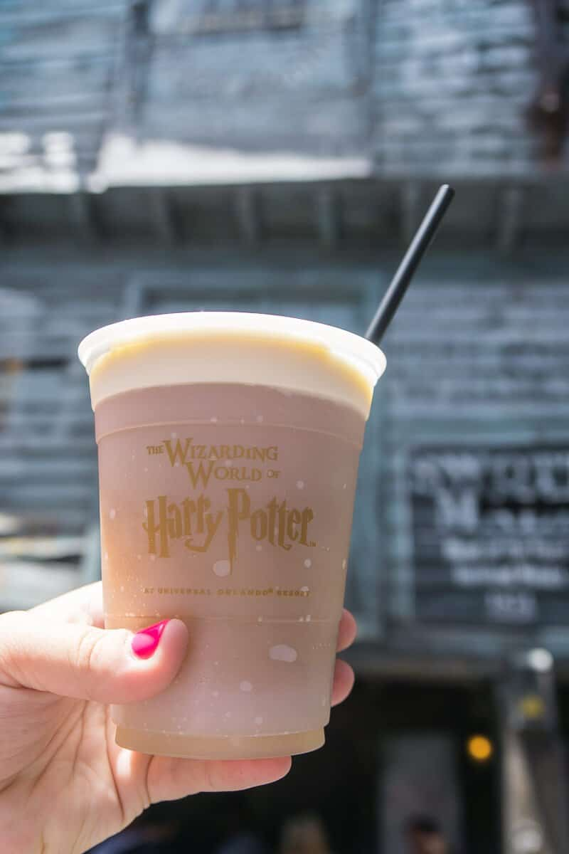Frozen butterbeer in Diagon Alley is the way to go