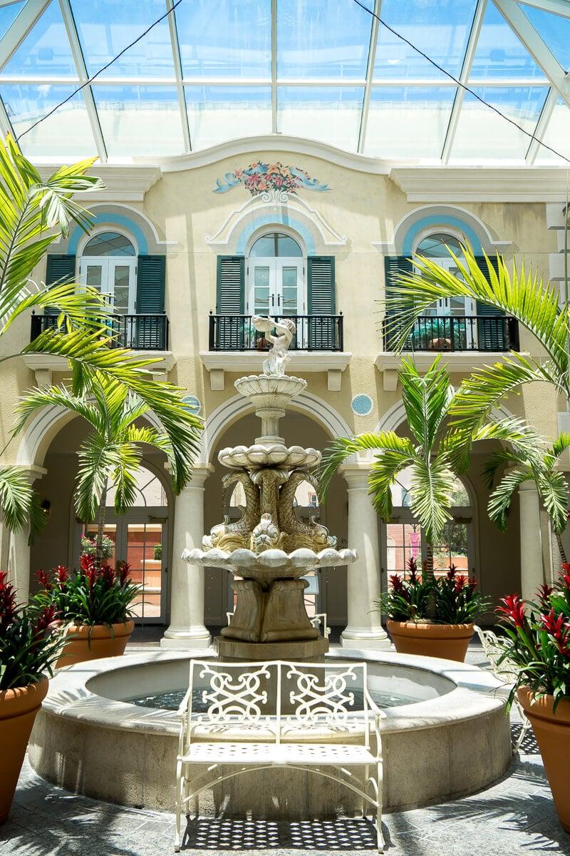 Italian theming throughout Loews Portofino Bay Hotel is beautiful