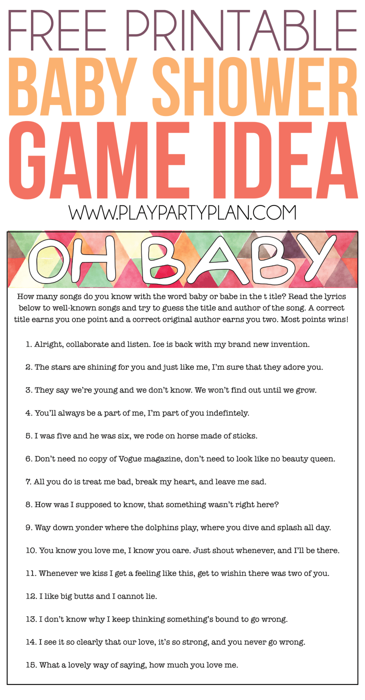 Don't forget to pin this free printable baby shower game for later!