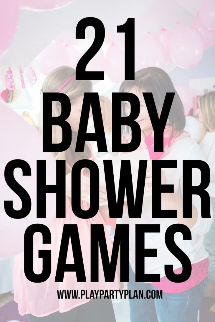 Unique baby shower games