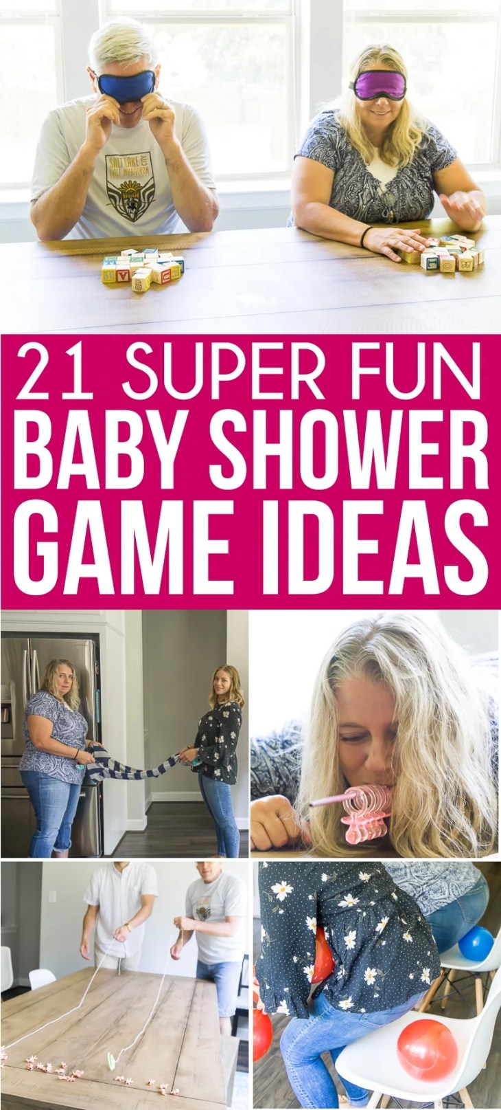 The best baby shower games! Tons of great ideas for boys, for girls,