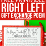 A Hilarious Left Right Christmas Poem Gift Game Play