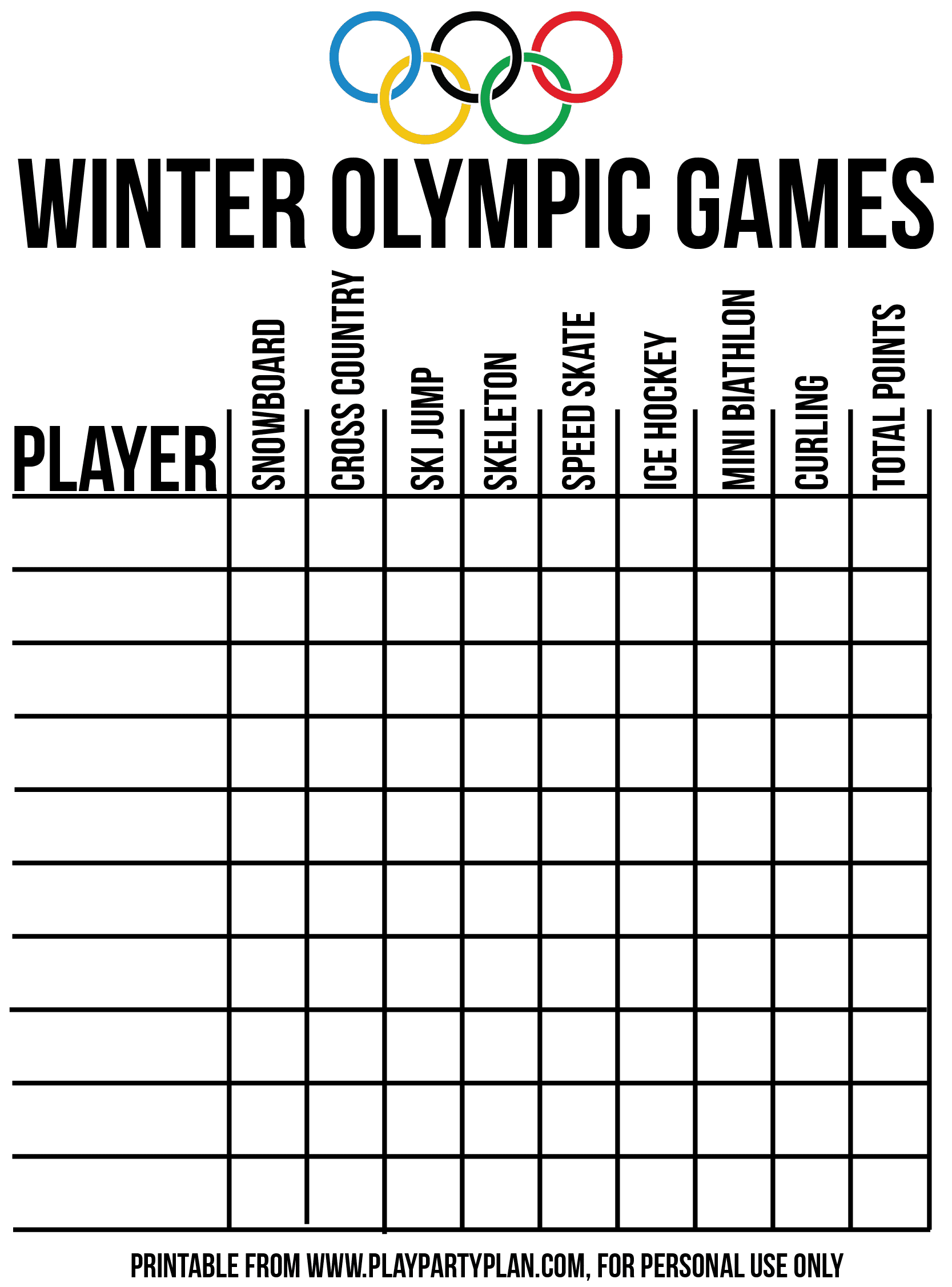 Hilarious Winter Themed Olympic Party Games