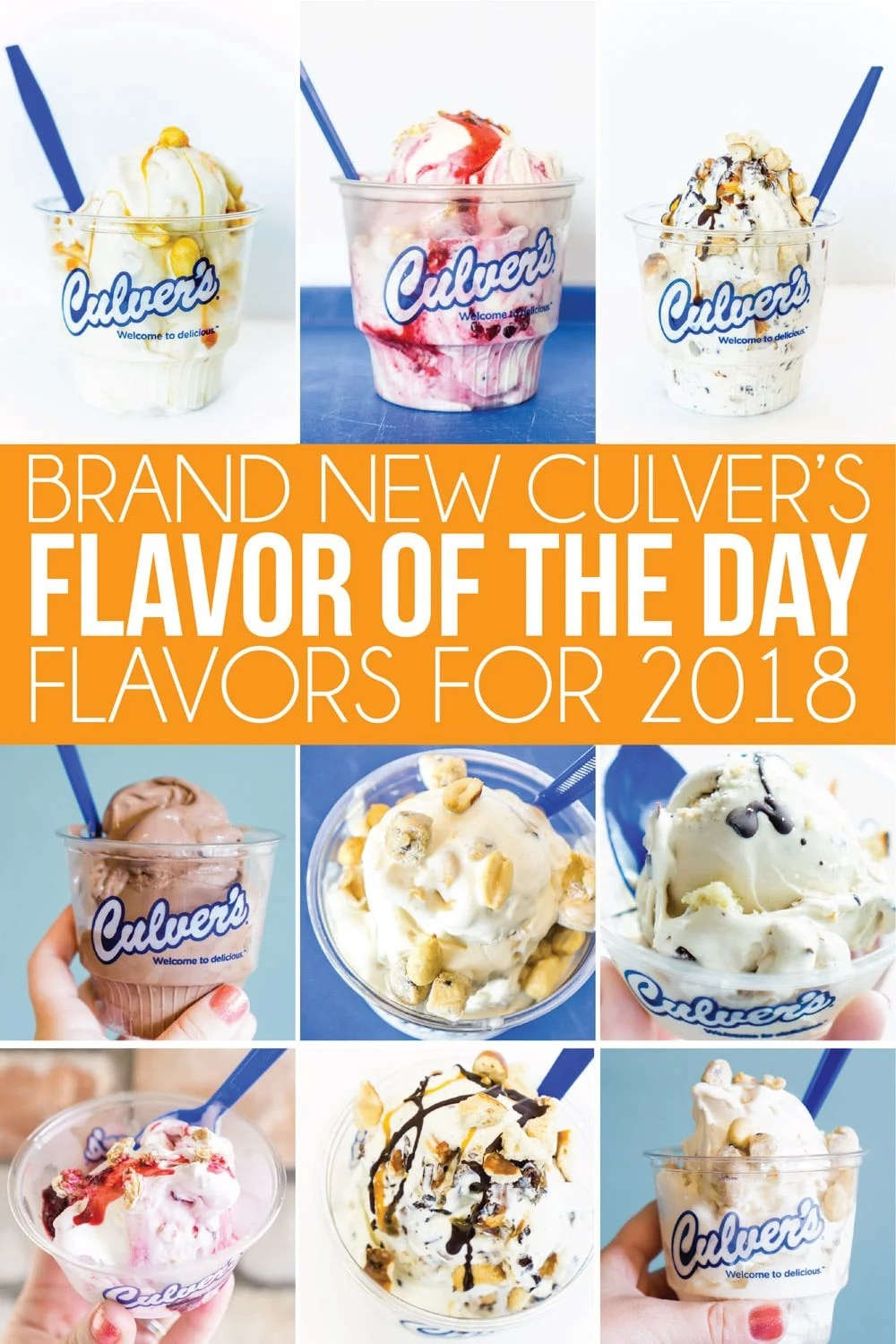 Culver's brand new Flavors of the Day release schedule for 2018