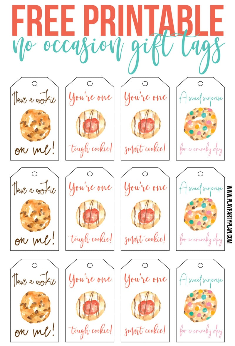 Free printable gift tags inspired by Culver's Flavor of the Day - cappuccino cookie crumble!