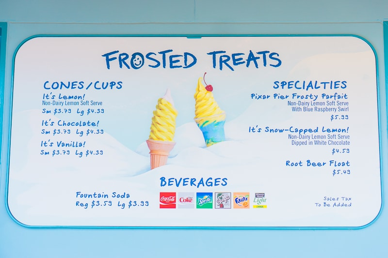 The Adbominable Snowman Frozen Treats make one of the best Pixar Fest food