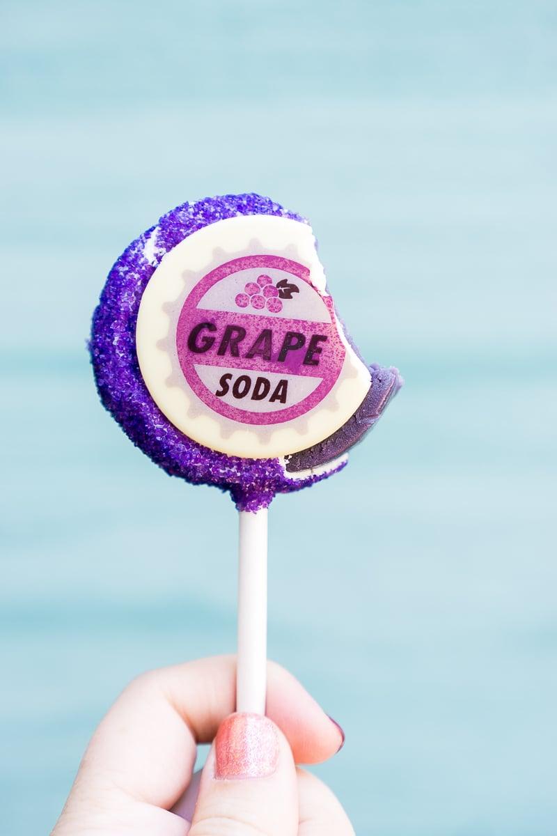 The grape soda cake pop at Pixar Fest