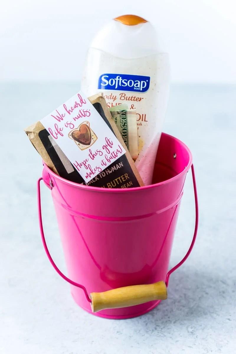 Creative gift basket ideas using peanut butter