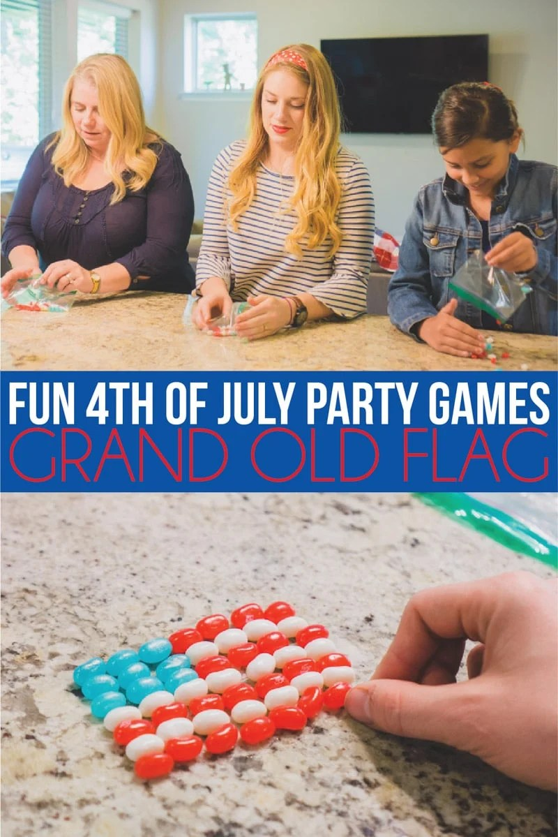 4th of July party games with a flag