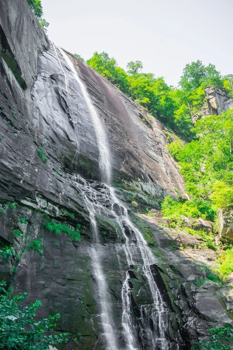 Waterfalls on the Chimney Rock State Park trail