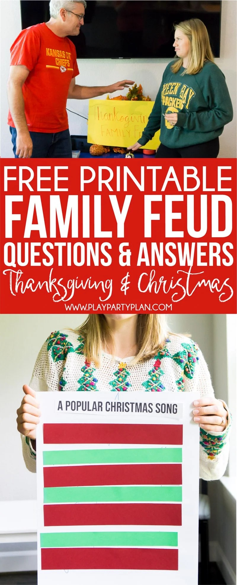 free holiday family feud